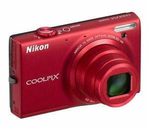 NIKON S6100 digital camera 16MP, touchscreen,7x Optical Zoom