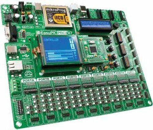 Development System for 80/100-pin PIC, w/ 87K22: EasyPIC PRO v7