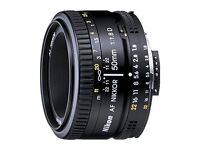 Nikon AF FX NIKKOR 50mm f/1.8D prime lense - Excellent Condition