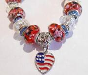 Red White Blue Beads
