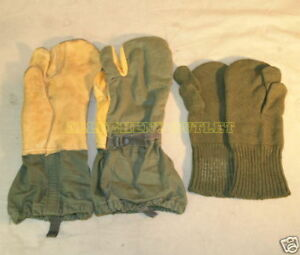 10-Ten-TRIGGER-FINGER-MITTENS-with-LINERS-Cold-Weather-Hunting-Gloves-MEDIUM-VG