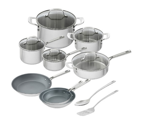 UPC 602190905228 - Wolfgang Puck - 15 Piece Stainless Steel Cookware ...