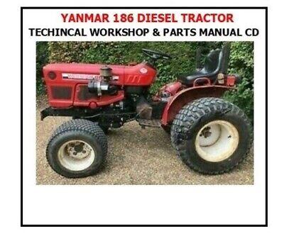 Yanmar Ym186 Ym186d Diesel Tractor Technical Workshop Parts Manual -2 Manuals