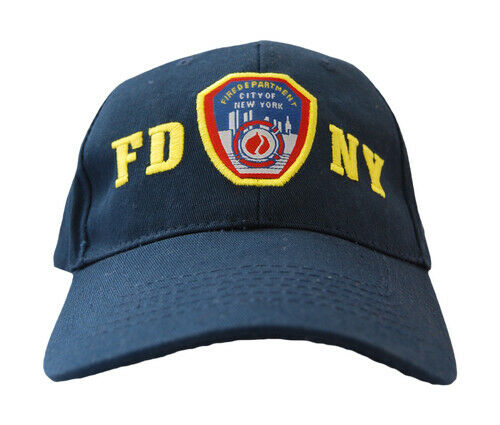 FDNY Officially Licensed Navy Hat with Yellow Letters Fire Hat