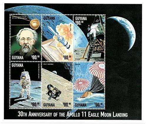 VINTAGE CLASSICS - Guyana 9908 Moon Landing Apollo11 30 Years - Sheet Of 6 - MNH - $0.89