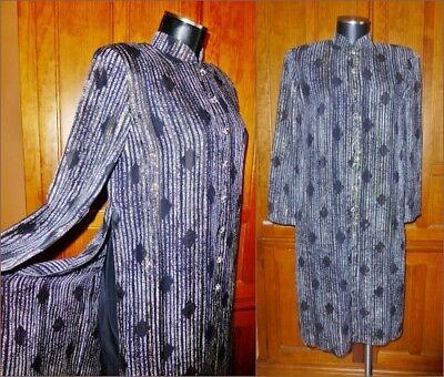 80s Dresses   Casual to Party Dresses Vtg 80s Gauze SILK Gold Metallic Lurex Asian Cocktail Party Tunic DRESS sz 6 $45.90 AT vintagedancer.com