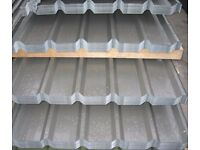 GALVANISED ROOF SHEETS BOX PROFILE 10ft X 3ft APPROX. 3000mm X 850mm , 0.7mm GAUGE