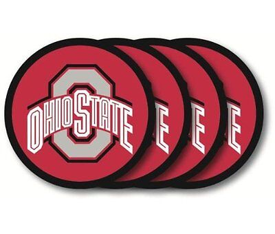 Ohio State Buckeyes Coasters 4 Pack Beverage USA SHIPPER - Ohio State Beverage