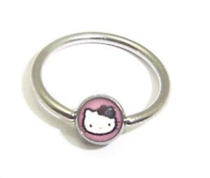 Hello Kitty Piercing Nabel, Brust, Braue, Ohr, Lippe