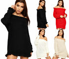 Off-the-Shoulder Long Sleeve Long Sweaters for Women