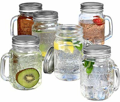Estilo Mason Jar Mugs with Handles Old Fashioned Drinking Gl