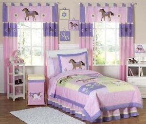 horse twin bed set