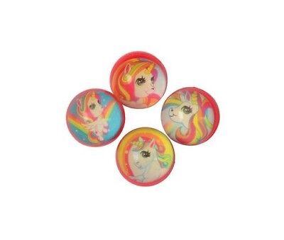 12 Unicorn Bouncy Rubber Bounce Balls 32mm Princess Party Goody Bag Pinata Favor](Princess Party Pinata)