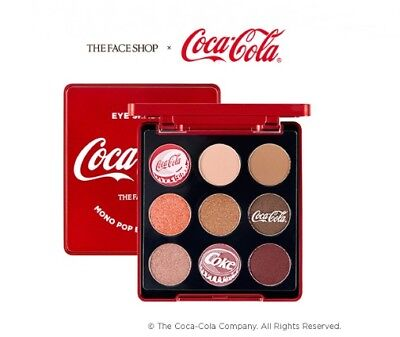 The Face Shop  Mono Pop Eyes Palette  Coca Cola Edition 9 Colors Eye Shadow