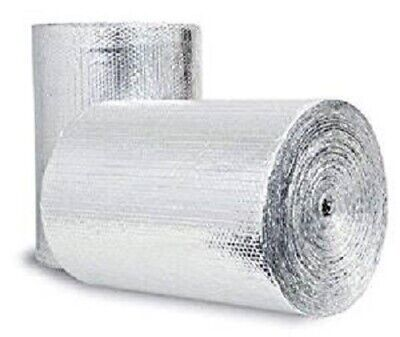 Bubble Insulation Heat Reflective Double Foil Radiant Barrier 2ft X10ft 20sqft