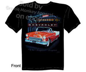 1955 Chevy T Shirt Classic Car Shirt 55 Diner Tee Sz M L