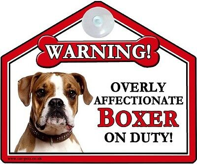 Boxer Breed of Dog Window Suction Sign Perfect Gift Pure Breed Boxer