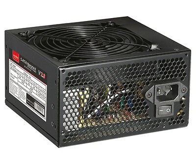 550 WATT ATX PC Computer Netzteil SATA 12cm 120mm leiser Lüfter 550W 80+ Werte