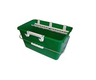 Unger QB120 Eimer 18 Liter Rechteckeimer für Glasreinigung Einwascher Wischer