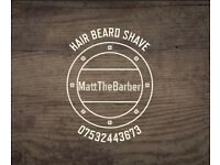Mobile Barber - Fully Qualified In all aspects of Barbering including shaving.