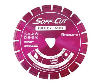 Husqvarna Excel 1000series 12 Purple Soff Cut Ultra Early Entry Diamond Blade