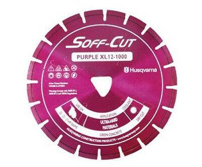 Husqvarna Excel 1000series 8 Purple Soff Cut Ultra Early Entry Diamond Blade