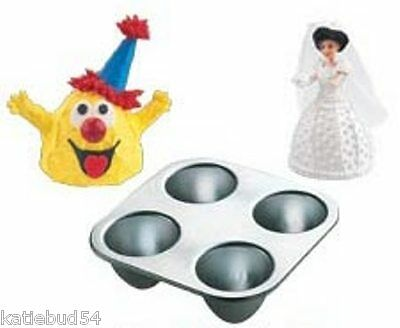 Wonder Mold Pan (Wilton MINI Wonder Mold Pan 4 Cavity NEW 2105-3020 Cone Shape Doll Skirt )