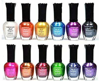 FREE 2 DAY!Kleancolor Nail Polish - Awesome Metallic Full Size  Lot of 12-pc Set, used for sale  USA