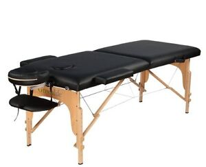 Table de massage De Luxe portative Noire