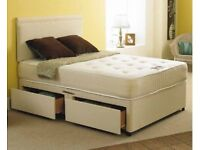 LOWEST PRICES--BRAND NEW DOUBLE DIVAN BED BASE & MATTRESS OF YOUR OWN CHOICE