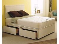 FREE & QUICK DELIVERY DOUBLE DIVAN BED BASE WITH DIFFERENT QUALITY MATTRESS