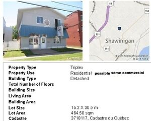 4 apartments and commercial in shawinigan just 89000