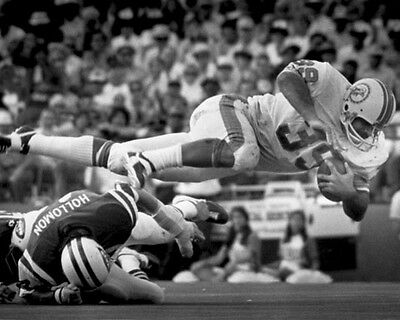 1972 Miami Dolphins LARRY CSONKA Glossy 8x10 Photo NFL Football Print TD Dive! 1972 Miami Dolphins Football