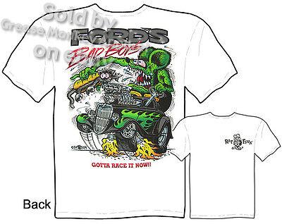 - Rat Fink T shirt 33 34 Ford Bad Boys Ed Big Daddy Roth Clothing M L XL 2XL 3XL