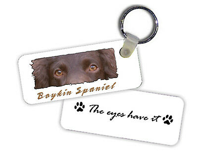 "Boykin Spaniel  "" The Eyes Have It  ""  Key  Chain"