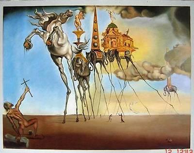 Ölbilder Ölgemälde Gemälde La Tentation de St. Antoine von Salvador Dali 80x60cm
