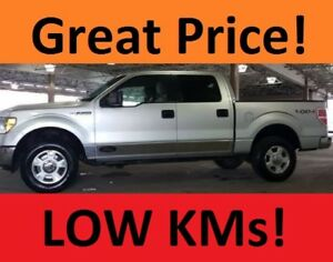 Low KM 2010 Ford F-150 SuperCrew XLT Pickup Truck - mint condtn