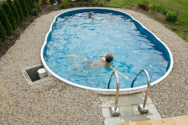 Above Ground Swimming Pool Kit 30x15ft Oval Ebay