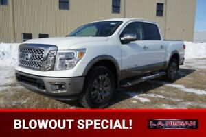 2018 Nissan Titan 4X4 PLATINUM CREW CA NAVIGATION, HEATED SEATS,