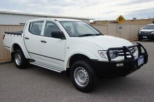 2014 Mitsubishi Triton MN MY15 GLX Double Cab White 4 Speed Sports Automatic Utility Pearsall Wanneroo Area Preview