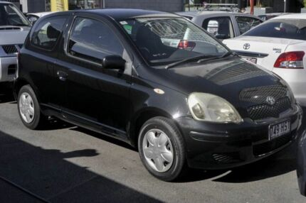 2004 Toyota Echo NCP10R MY03 Black 5 Speed Manual Hatchback Main Beach Gold Coast City Preview