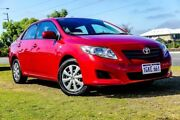 2008 Toyota Corolla ZRE152R Ascent Red 4 Speed Automatic Sedan Wangara Wanneroo Area Preview