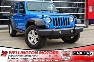 2015 Jeep Wrangler Unlimited Sport / Dual Top / On & Off Road Ti