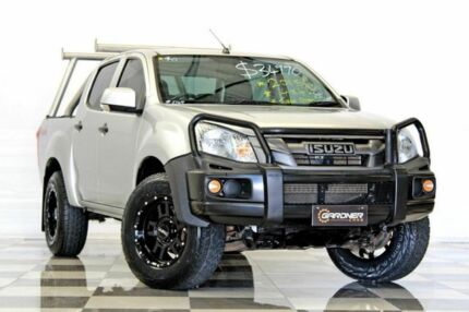 2015 Isuzu D-MAX TF MY15 SX (4x4) Silver 5 Speed Automatic Crew Cab Utility Burleigh Heads Gold Coast South Preview