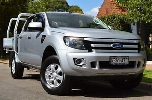 2013 Ford Ranger PX XLS Double Cab Silver 6 Speed Manual Utility Thorngate Prospect Area Preview