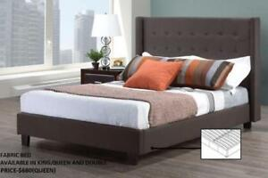 SALE ON FABRIC BEDS WITH TUFTED HEADBOARD AND FOOTBORAD (ND 116)