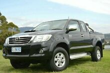 2013 Toyota Hilux KUN26R MY12 SR5 Xtra Cab Black 5 Speed Manual Utility Derwent Park Glenorchy Area Preview