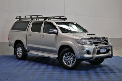 2013 Toyota Hilux KUN26R MY14 SR5 (4x4) Silver 5 Speed Automatic