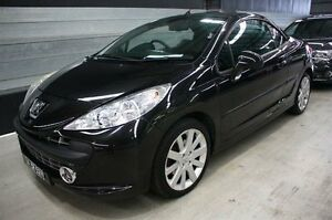 2007 Peugeot 207 A7 CC Turbo Black 5 Speed Manual Cabriolet Maryville Newcastle Area Preview