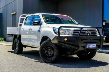 2016 Toyota Hilux GUN126R SR Double Cab White 6 Speed Sports Automatic Cab Chassis Osborne Park Stirling Area Preview